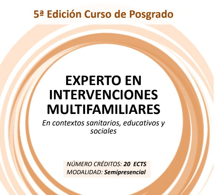 Postgrado de Experto en Intervenciones Multifamiliares