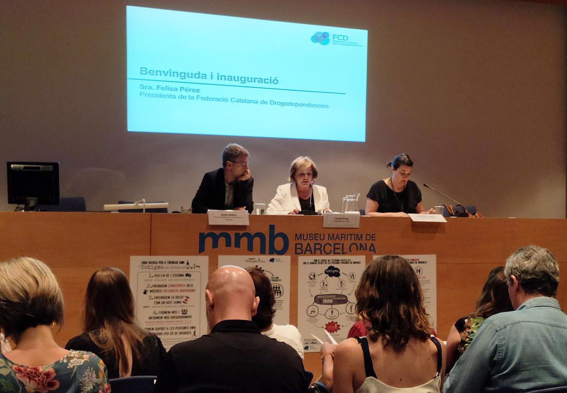La Federació Catalana de Drogodependències omple el Museu Marítim en la seva XV Jornada Anual sobre 'Estigma i Drogues'