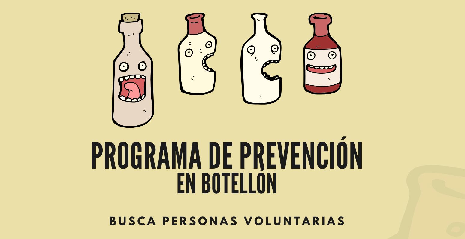 Buscamos personas voluntarias para el proyecto de prevención en 'botellón' de Madrid