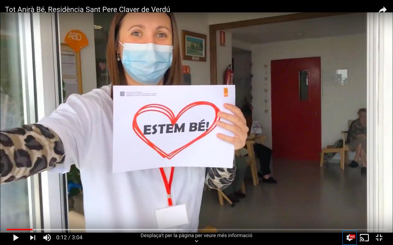 La Residència i Centre de Dia Sant Pere Claver de Verdú ens recorda amb aquest vídeo que #TotAniràBé